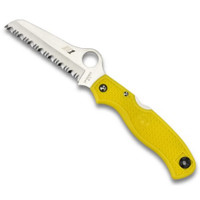 Spyderco Atlantic Salt Folding Lockback Knife, H1 Steel SpyderEdge Blade, Yellow FRN Handle, C89SYL