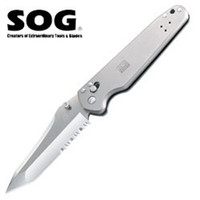 SOG Vision Titanium Knife, Combo Edge,  SV68