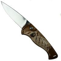 Piranha Desert Camo Fingerling Auto Knife, 154CM Mirror Blade