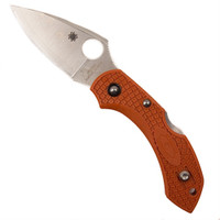Spyderco Sprint Run Burnt Orange Dragonfly2 Knife, Plain Blade, FRN Handle