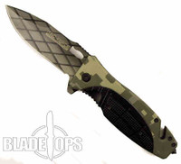 Agitator Digi Camo Spring Assist Knife, Plain Blade