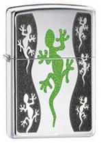Zippo Green Lizard Lighter, Zippo 21149