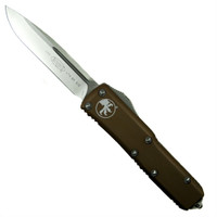 Microtech 231-4TA Tan Contoured UTX-85 S/E OTF Auto Knife, Satin Blade