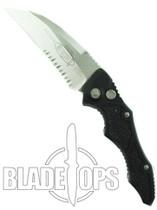 Microtech Kestrel Automatic Knife, Satin Part Serrated Blade, 131-5