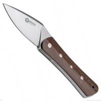 Boker Arbolito 02BA372 Farkas Nomad Guayacan Fixed Blade Knife, N695 Satin Blade