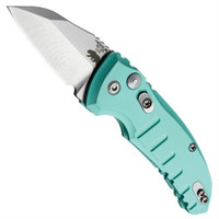 Hogue Knives 24143 Aquamarine A01 Microswitch Wharncliffe Cali-Legal Auto Knife, CPM-154 Stonewash Blade