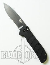 Benchmade H&K 14700SBX Auto Knife, Black Part Serrated Blade