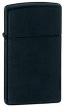 Zippo Slim Black Matte Lighter, Zippo 1618