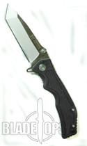 Blackjack Model 3 Tanto Point Spring Assist Knife, Black, PLN, BJ037
