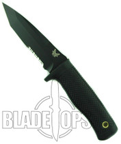 Benchmade 517SBK Pardue Rant Fixed Blade Knife, ComboEdge Black Tactical Tanto Point