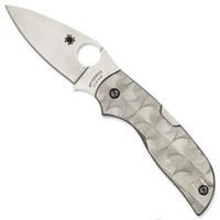 Spyderco C152STIP Chaparral Stepped Titanium Folder Knife, CTS-XHP Satin Blade