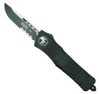 Microtech 143-2T Tactical Combat Troodon S/E OTF Auto Knife, Black Combo Blade
