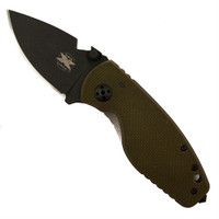 DPx Gear HEAT/F OD Green Lock Knife, D2 Blade, Right Hand Configuration