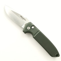 Pro-Tech LG205-GRN Dark Green Knurl Grip Rockeye Auto Knife, CPM-154 Satin Blade
