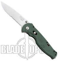 SOG Green FLASH II Spring Assisted Knife, Satin Part Serrated Blade, GFSA98