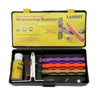 Lansky LK3DM Standard Diamond Knife Sharpening System, 3 Hones