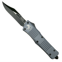 Microtech 146-1GY Grey Combat Troodon Bowie OTF Auto Knife, Black Blade