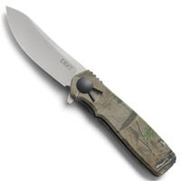 CRKT K265CXP Realtree™ Homefront Hunt Flipper Knife, Satin Blade