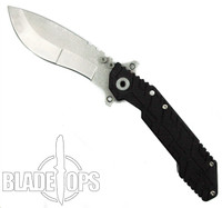 Quartermaster Knives Boss Hog QSE-1 Folding Knife, Kukri Stonewashed