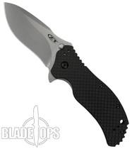 Zero Tolerance 0350SWCF Assist Knife, Carbon Fiber, Stonewash