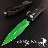 Microtech 232-1JM Jedi Master UTX-85 D/E OTF Auto Knife, Green Blade