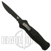Benchmade 3310SBK Infidel OTF Knife, Black Single Edge Combo Blade