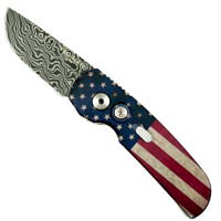 Pro-Tech Limited 2240-DAM Vintage Flag Calmigo Cali-Legal Auto Knife, Damascus Blade
