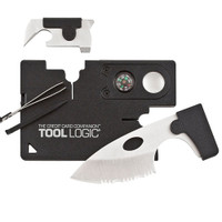 SOG Black Credit Card Companion, Lens, Compass, Tweezers, Blade
