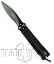 Bradley Kimura II Butterfly Knife, Limited Edition Polished Black, BC5500-IIBLK