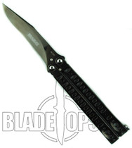 Bradley Kimura IV Butterfly Knife, Limited Edition Polished Black, Clip Point, BC5500-IVBLK