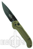 Microtech Tan LUDT Automatic Knife , Black Standard Blade, 135-1TAN