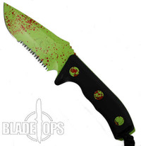Microtech 102-2Z Currahee S/E Fixed Blade Knife, Zombie Green Combo Blade