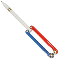 Spyderco BaliYo YUS100 Red/Blue Balisong Butterfly Pen, White Body