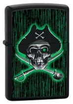 Zippo Lighter Black Matte Pirate, Zippo 24261