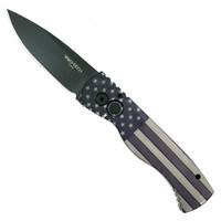 Pro-Tech Tactical Vintage Flag #4 TR-2 Tactical Response 2 Auto Knife, 154CM Black Blade