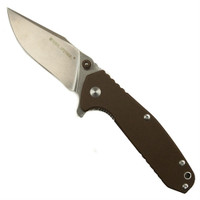Real Steel H5 Gerfalcon Folding Knife, Desert Tan G10, Plain Blade