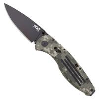 SOG Aegis Folder, A/O, Digi Camo, Black Plain Blade, AE06