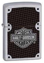 Zippo Lighter Harley Davidson, Satin Chrome Polish, 24025