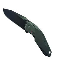 Schrade SCHA5B Assist Knife, Black Handle, Black Plain Edge