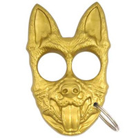 Canine Self Defense Key Ring, Gold