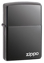 Black Ice with Logo Zippo, 150ZL
