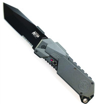 Smith & Wesson MAGIC Assist Knife, Black Tanto Combo Blade, SWMP9BTS