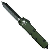 Microtech 230-1OD OD Green Contoured UTX-85 Spartan OTF Auto Knife, Black Blade