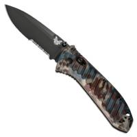 Benchmade Limited 570SBK-1801 Rustic Presidio II Folder Knife, CPM-S30V Black Combo Blade