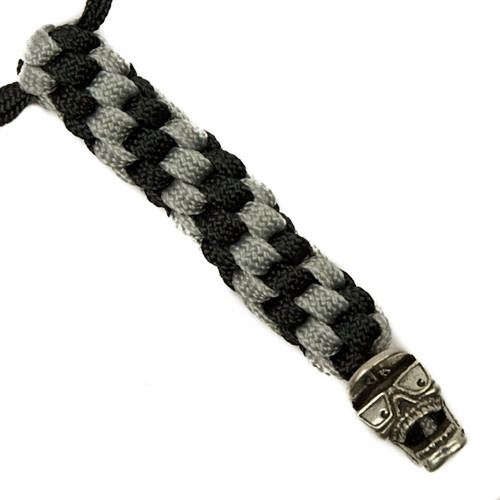 DPx Gear Mr. DP Bead, Antique Pewter Finish with Black and Silver Lanyard