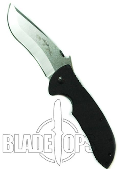Emerson Knives Super Commander Knife, Manual Folder, Satin Finish Plain Blade