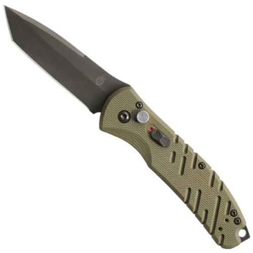 Gerber 30-001317 OD Green Propel Downrange Tanto Auto Knife, CPM-S30V Black Blade