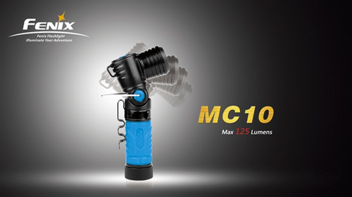 Fenix MC10 Blue Angle Head Flashlight, 125 Lumens