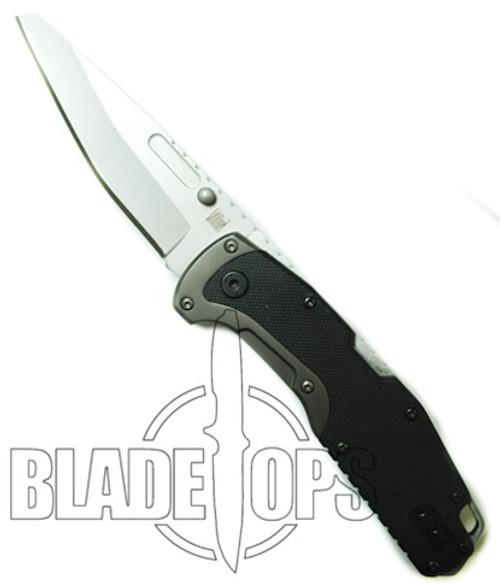 KA-BAR FIN Velocity Folder Knife, G10 Handle Scales, Modified Drop Point, KA5558