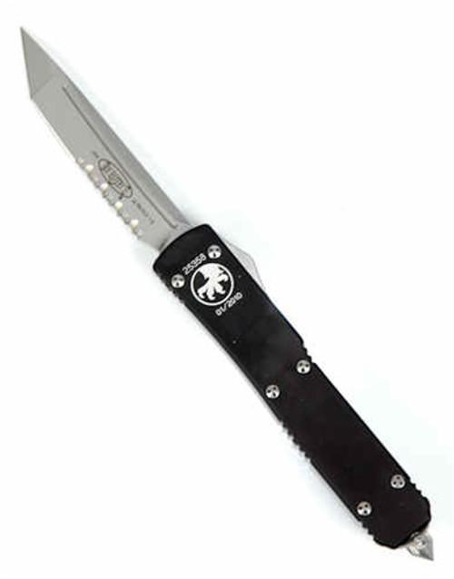 Microtech Ultratech OTF Knife, Bead Blast Tanto S/E P/S Blade, MT123-8